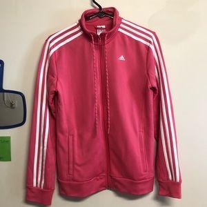 Pink adidas jacket size medium